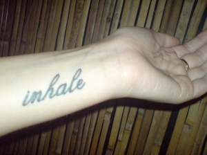 Inhale tatoo