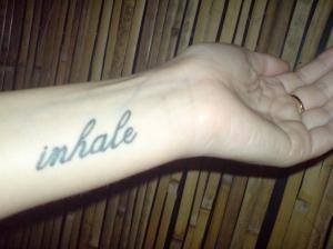 Inhale tatoo