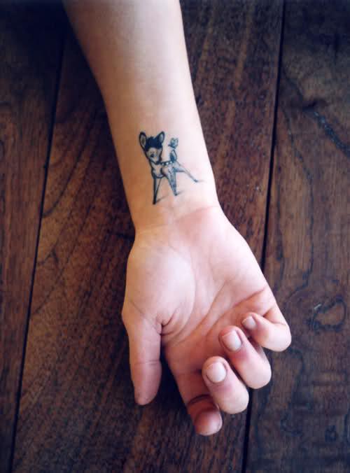 小鹿斑比纹身