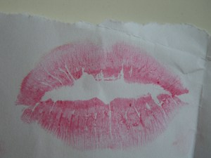 亲吻餐巾纸