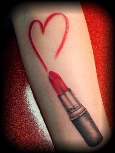 Mac Lipstick tattoo