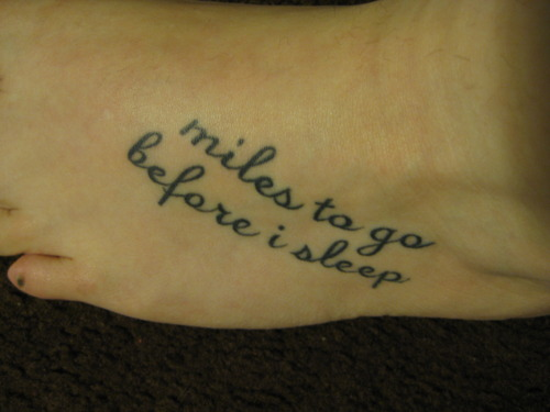 Robert Frost tattoo