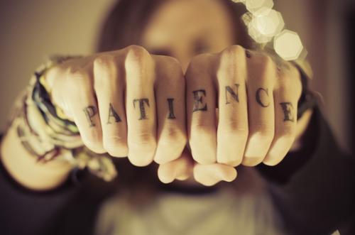 Patience tattoo