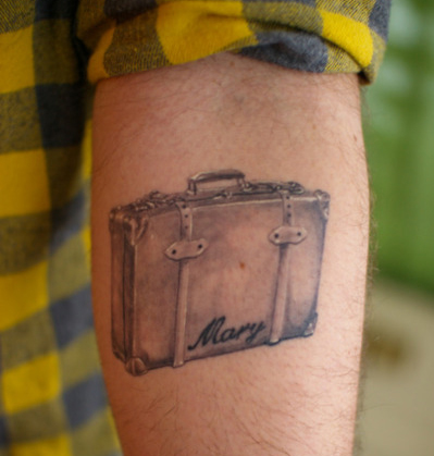 Vintage Suitcase Tattoo