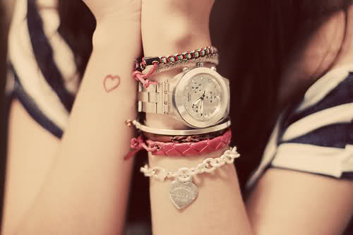 Fashion heart tattoo