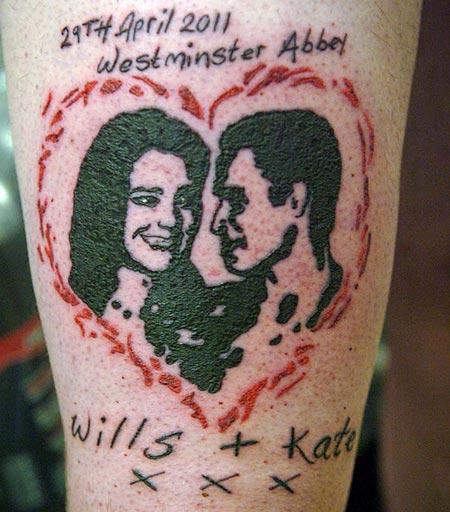 Wills and Kate tattoo