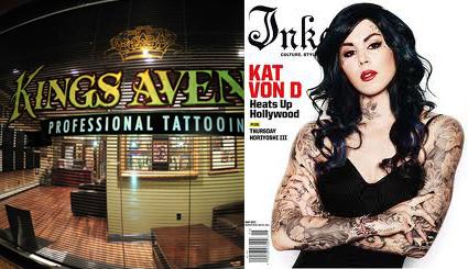 Kings Avenue tattoo 和 墨水ed magazine