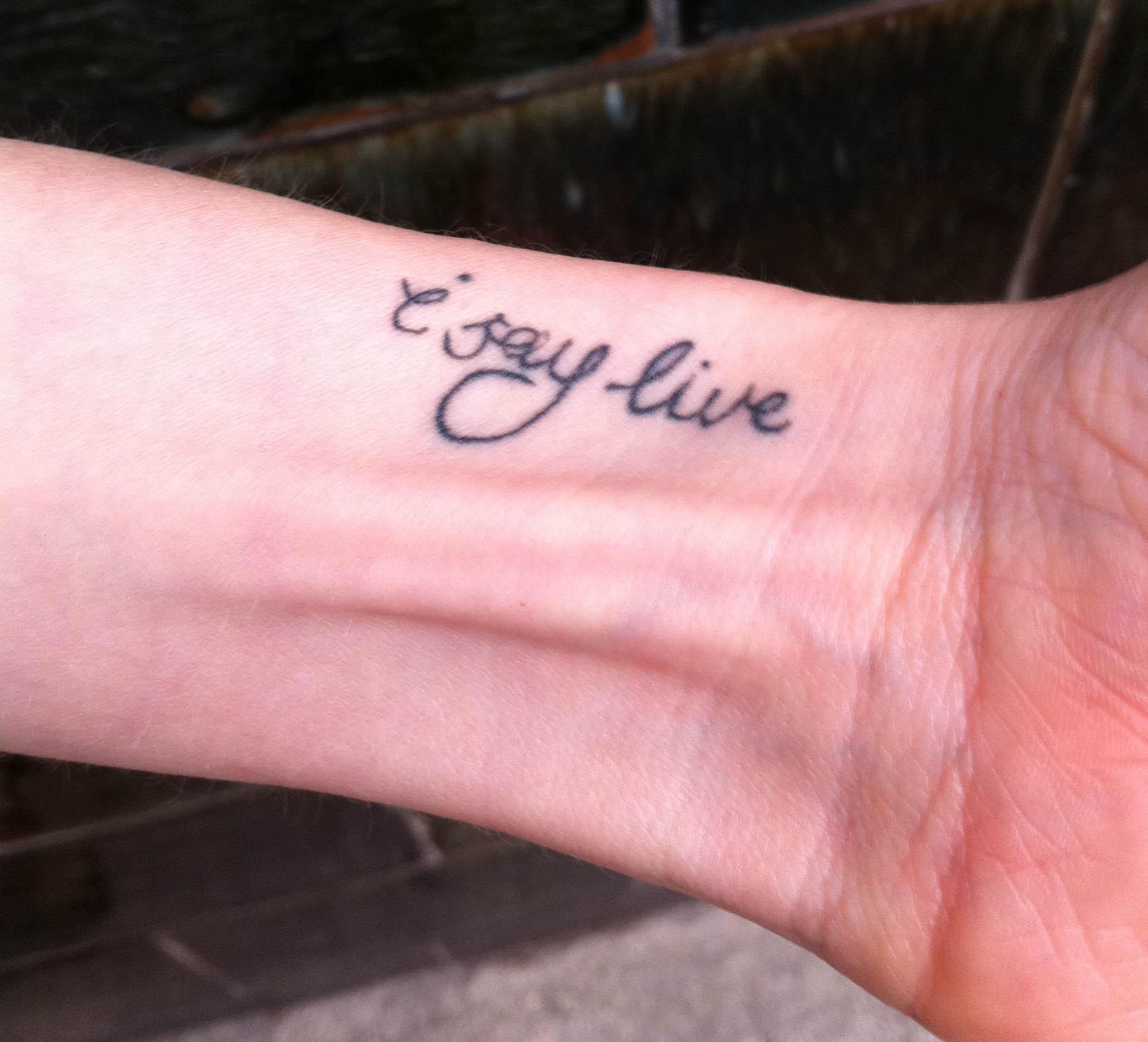 372a96e77 Hope finger tattoo