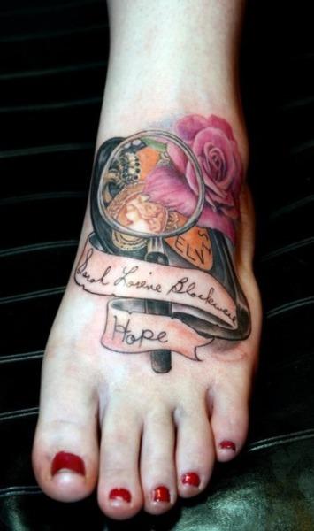 奶奶纪念纹身