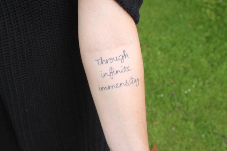 Through infinite immensity tattoo