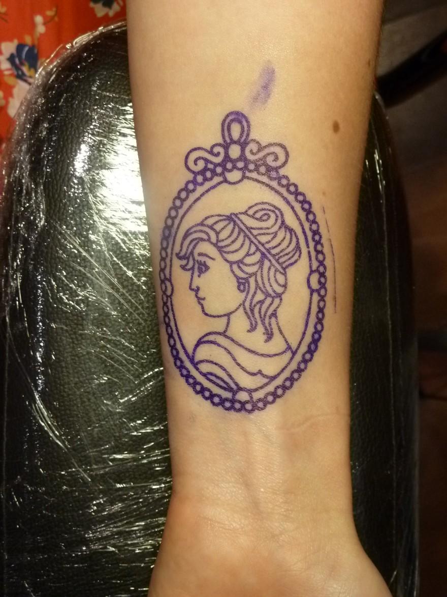 Stencil on arm