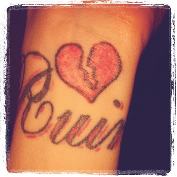 Ruin heart tattoo