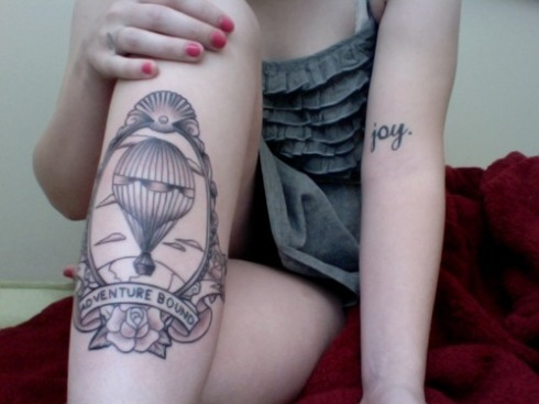 Adventure bound tattoo
