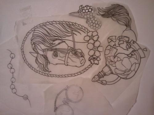 模板为Foer纹身