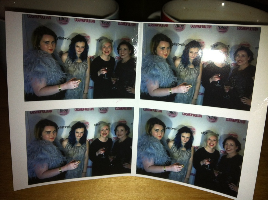 Photo booth with blogger friends