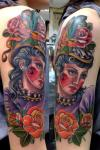 Beautiful lady tattoo by Claudia