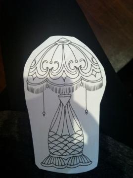 lamp stencil